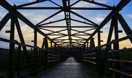 Constru??o de ponte sim?trica da estrada de ferro imagens de stock royalty free