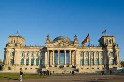Construção de Reichstag (o parlamento alemão) em Berlim, Alemanha Imagem de Stock Royalty Free
