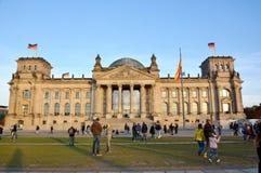 Construção de Reichtag, em Berlim, Alemanha Fotos de Stock Royalty Free