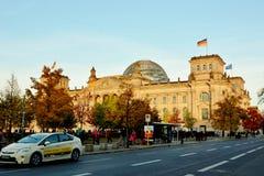 Construção de Reichtag, em Berlim, Alemanha Imagem de Stock