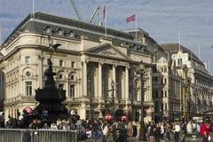 A construção de Ripley no quadrado do circo de Piccadilly Imagens de Stock