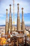 Construção de Sagrada Familia Fotos de Stock