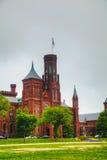 Construção de Smithsonian Institution (o castelo) em Washington, C.C. Imagem de Stock Royalty Free