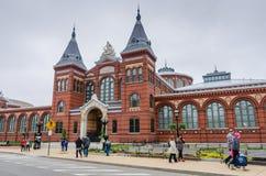 Construção de Smithsonian Institution - Washington DC fotos de stock royalty free