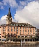 Construção de Storchen do hotel em Zurique, Suíça Foto de Stock