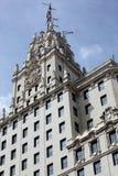 Construção de Telefonica no Madri, Espanha Foto de Stock