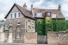 Construção de tijolo histórica de Cambridge Inglaterra Fotografia de Stock
