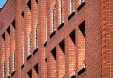 Construção de tijolo lateral ou vermelho foto de stock