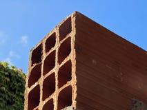 Construção de tijolo oca Fotografia de Stock