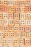 A construção de tijolo vermelho é importante na construção das paredes Foto de Stock