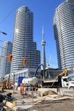 Construção de Toronto sob a construção Fotografia de Stock