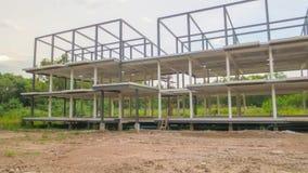 Construção de três andares sob a construção fotografia de stock