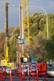Construção de trilha de O-Bahn no parque de Rymill em Adelaide Foto de Stock Royalty Free