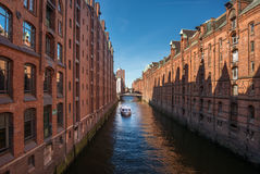 Construção de troca velha do turismo de Hamburgo Foto de Stock