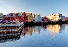 Construção de Tromso - Noruega foto de stock