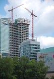 Construção de um arranha-céus Foto de Stock