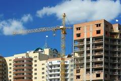Construção de um c habitado Fotografia de Stock