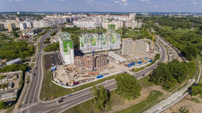 Construção de um complexo residencial Fotografia de Stock