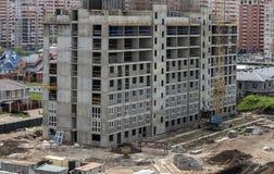 Construção de um distrito novo foto de stock