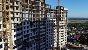 Construção de um edifício de apartamento Tiros do ar filme