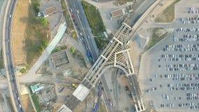 Construção de um intercâmbio da estrada vídeos de arquivo