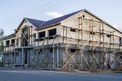 A construção de um shopping na região de Kaluga de Rússia foto de stock