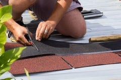 Construção de um telhado Imagem de Stock