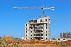 Construção de uma área residencial Fotos de Stock Royalty Free