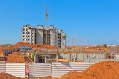 Construção de uma área residencial Imagem de Stock Royalty Free