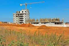Construção de uma área residencial Fotografia de Stock