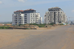 Construção de uma área residencial Fotos de Stock
