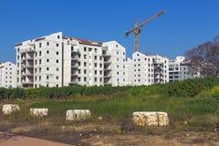 Construção de uma área residencial Imagens de Stock