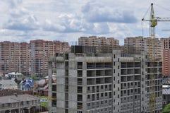 Construção de uma área residencial nova fotografia de stock