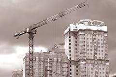 Construção de uma casa de moradia Fotografia de Stock