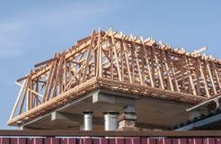 Construção de uma casa privada foto de stock royalty free