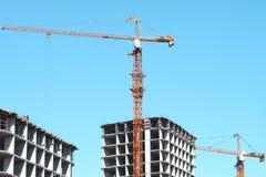 Construção de uma casa residencial Foto de Stock Royalty Free