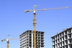 Construção de uma casa residencial Fotografia de Stock