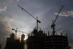 Construção de uma cidade Foto de Stock
