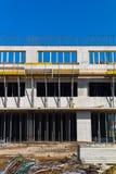 Construção de uma construção residencial Fotos de Stock Royalty Free