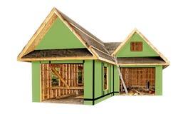 Construção de uma garagem e de uma oficina do offset Imagem de Stock Royalty Free