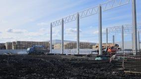 Construção de uma planta do quadro do metal foto de stock
