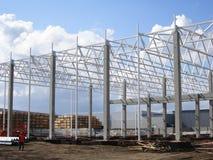 Construção de uma planta do quadro do metal imagem de stock