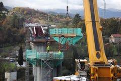 Construção de uma ponte Imagens de Stock