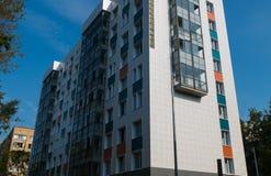 Construção de uma construção residencial nova Fotos de Stock Royalty Free
