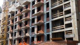 Construção de uma construção residencial nova Foto de Stock