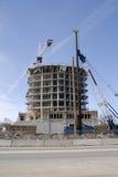 Construção de uma torre dos planos. Fotografia de Stock Royalty Free