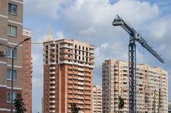 Construção de uma vizinhança residencial nova fotografia de stock