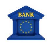 Construção de Union Bank do europeu isolada Fotos de Stock
