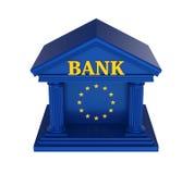 Construção de Union Bank do europeu isolada Imagens de Stock