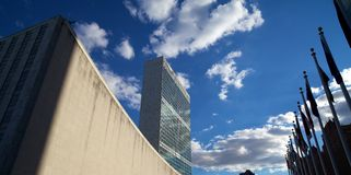 Construção de United Nations e a assembleia geral Fotos de Stock